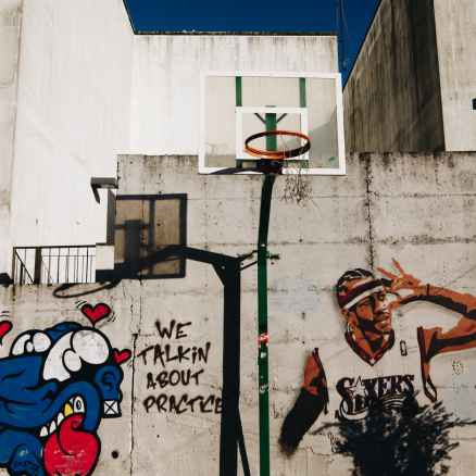allen iverson of sixers graffiti wall