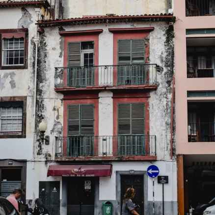 an old apartment building